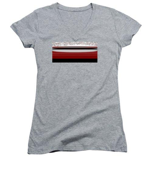 Lines 3 Women's V-Neck T-Shirt (Junior Cut) by Linda Velasquez