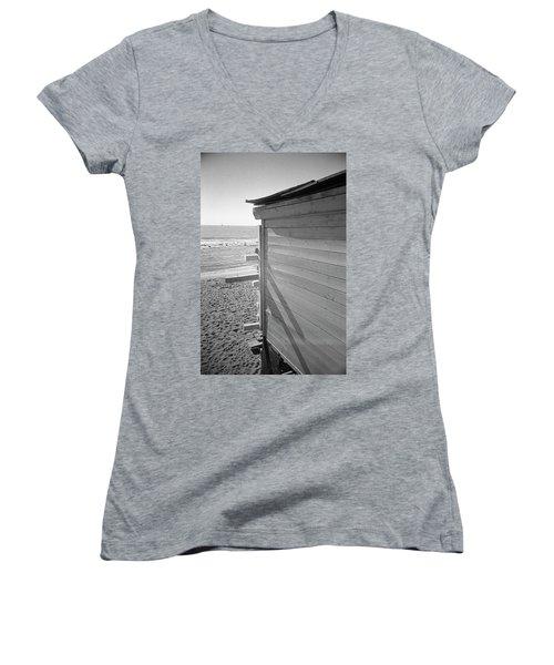 Lines In Ostia Beach Women's V-Neck