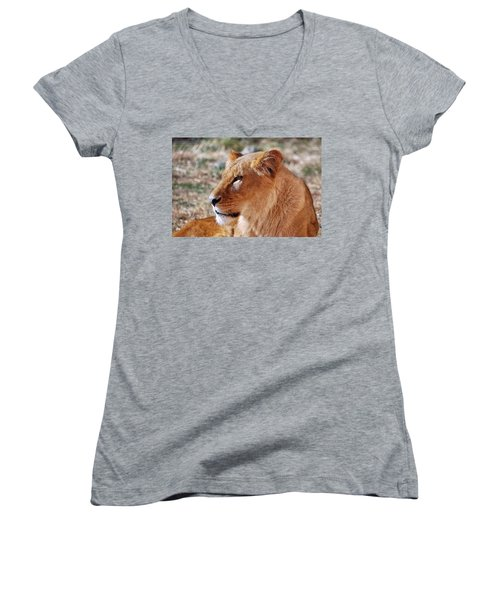 Lion Around Women's V-Neck