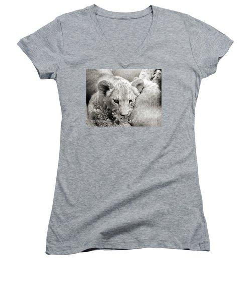 Lion Cub Women's V-Neck