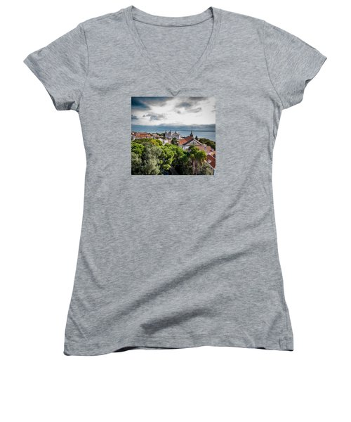 Lisbon Overlook Women's V-Neck T-Shirt