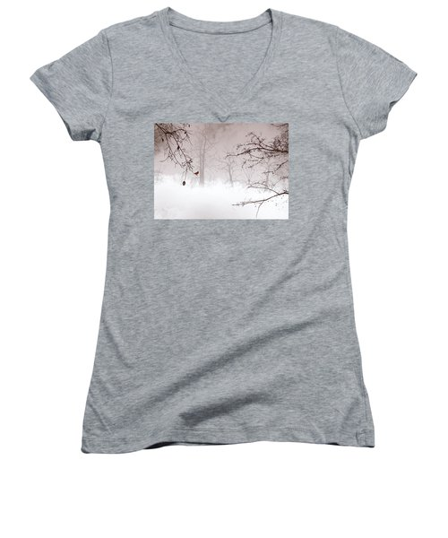 Listening Women's V-Neck T-Shirt (Junior Cut) by Trilby Cole