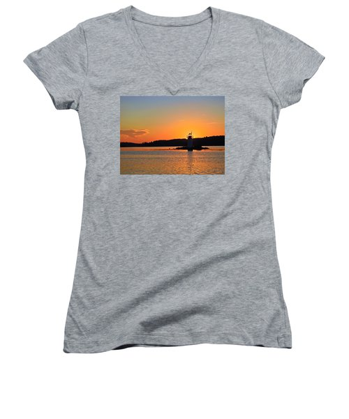 Lit By The Sun Women's V-Neck