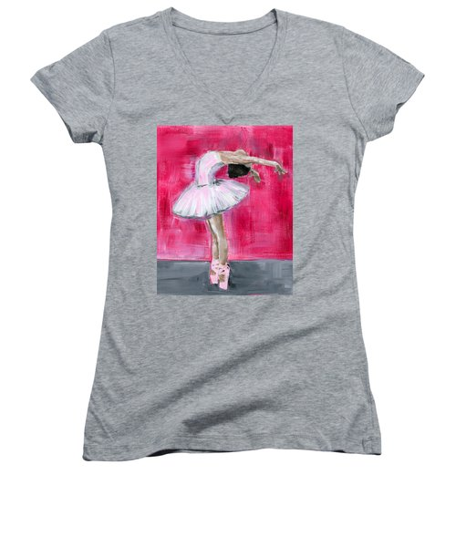 Little Ballerina #2 Women's V-Neck (Athletic Fit)