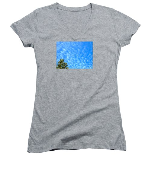 Little Clouds Women's V-Neck T-Shirt