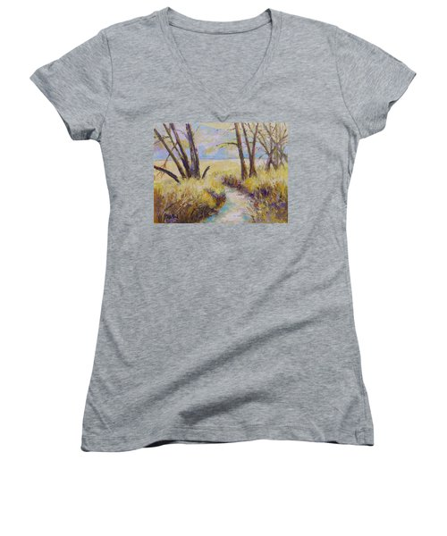 Little Creek Women's V-Neck T-Shirt (Junior Cut) by William Reed