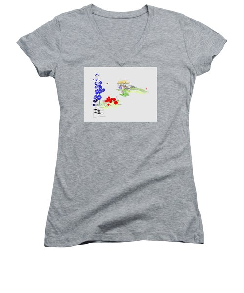 Little House And Garden Women's V-Neck (Athletic Fit)