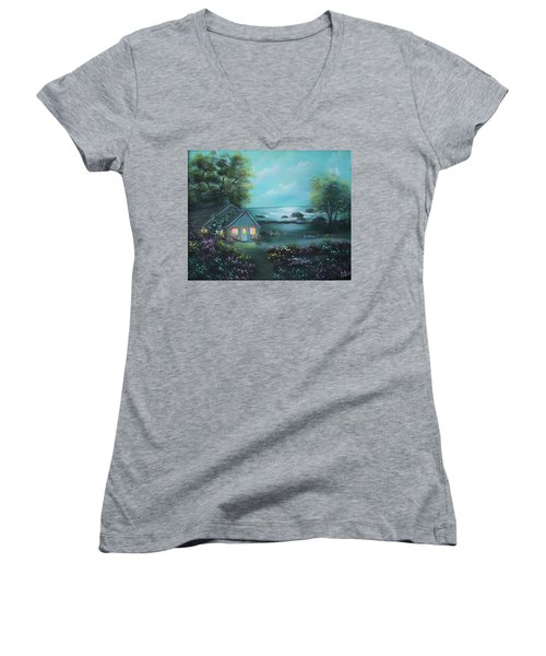 Little House By The Sea Women's V-Neck (Athletic Fit)