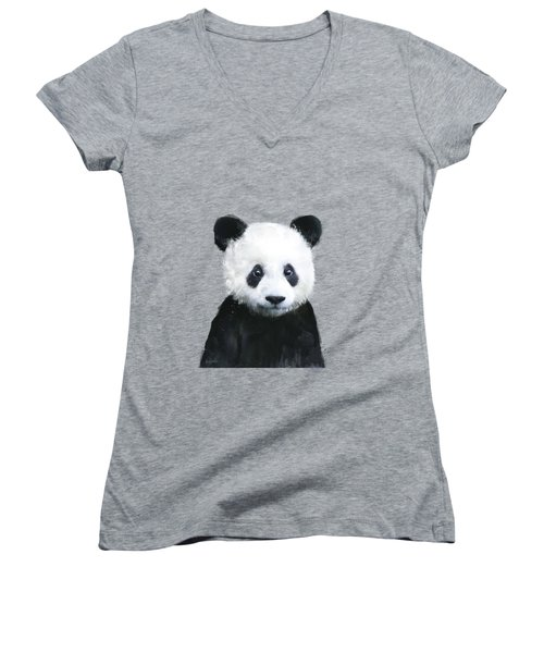 Little Panda Women's V-Neck (Athletic Fit)