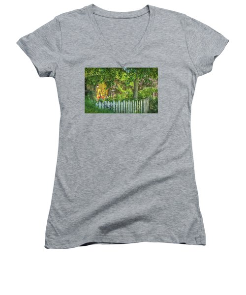 Little Picket Fence Women's V-Neck