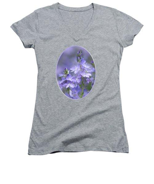 Little Purple Flowers Vertical Women's V-Neck (Athletic Fit)