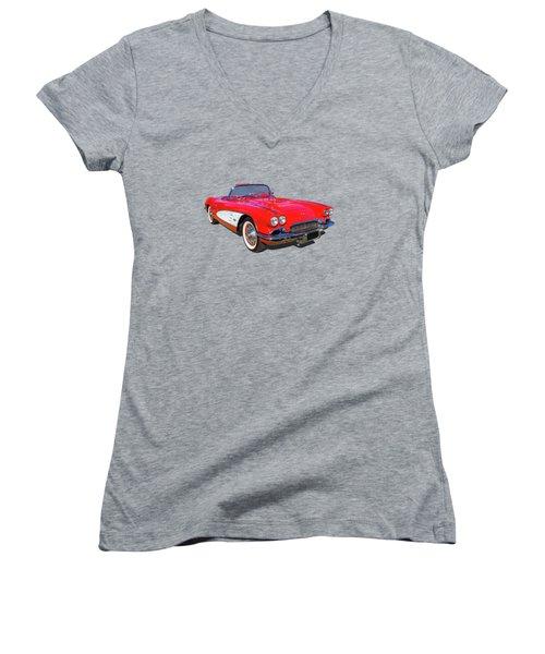 Little Red 61 Women's V-Neck T-Shirt