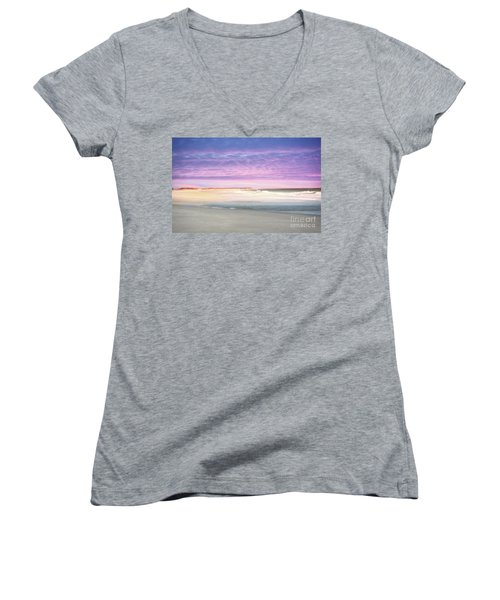 Women's V-Neck T-Shirt (Junior Cut) featuring the photograph Little Slice Of Heaven by Kathy Baccari