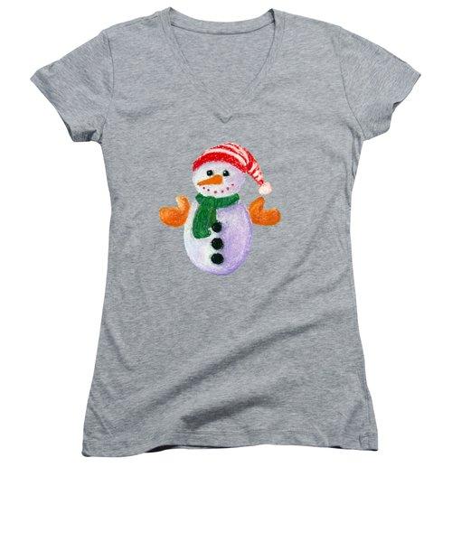 Little Snowman Women's V-Neck
