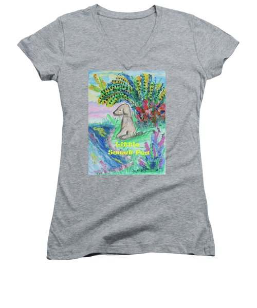 Little Sweet Pea With Title Women's V-Neck T-Shirt