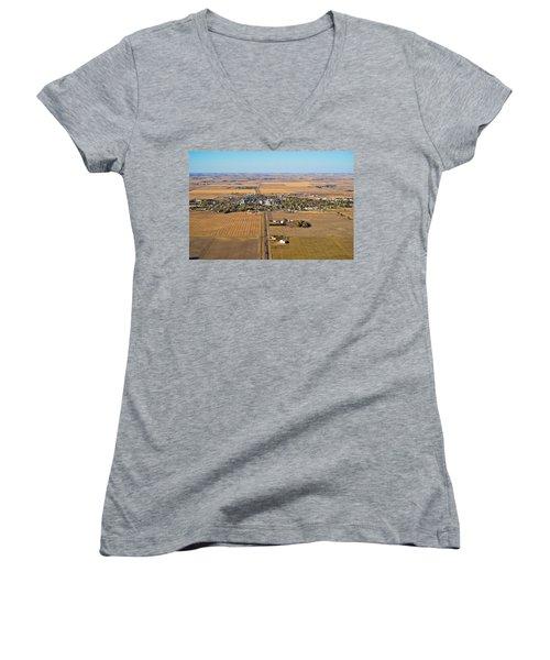 Little Town On The Prairie Women's V-Neck
