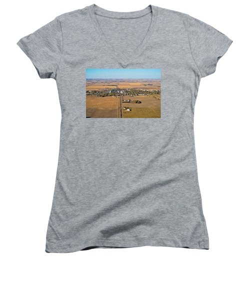 Little Town On The Prairie Women's V-Neck (Athletic Fit)