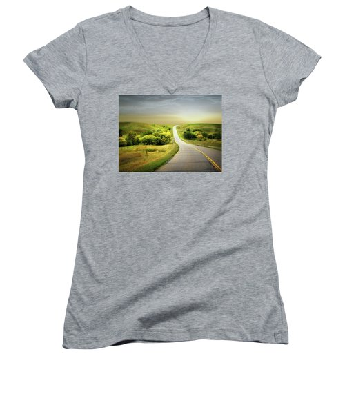 Little Valley Women's V-Neck T-Shirt
