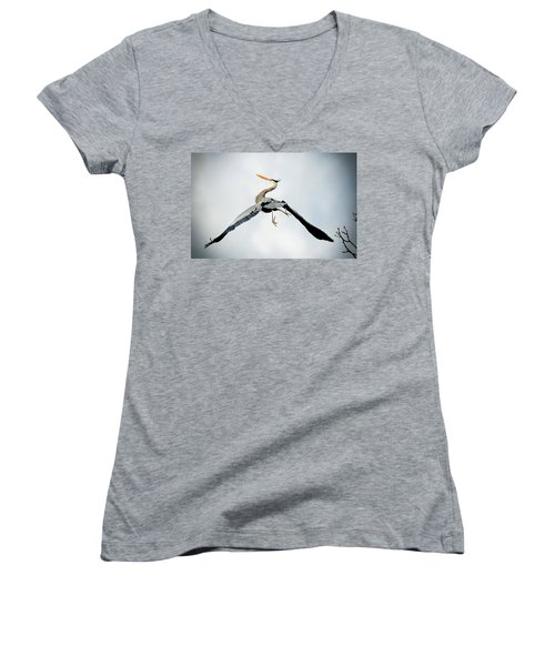 Live Free And Fly Women's V-Neck