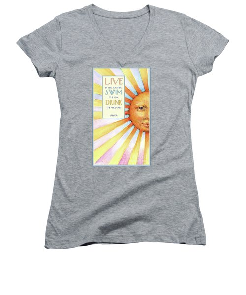 Live In The Sunshine Women's V-Neck (Athletic Fit)