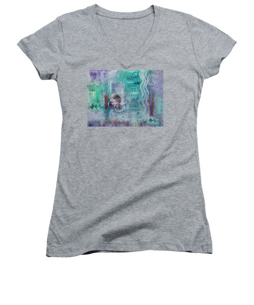 Living In The Mystery Women's V-Neck (Athletic Fit)