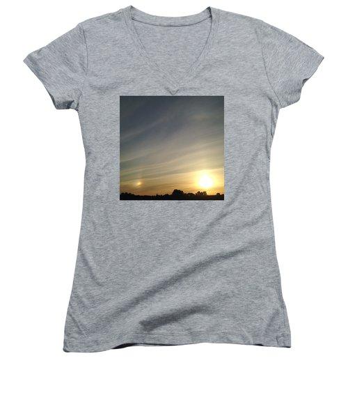 Lobbing Rainbows Into The Sun Women's V-Neck T-Shirt