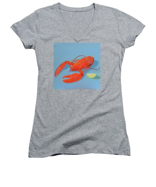 Lobster And Lemon Women's V-Neck