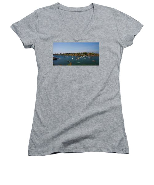 Lobster Boats On The Coast Of Maine Women's V-Neck