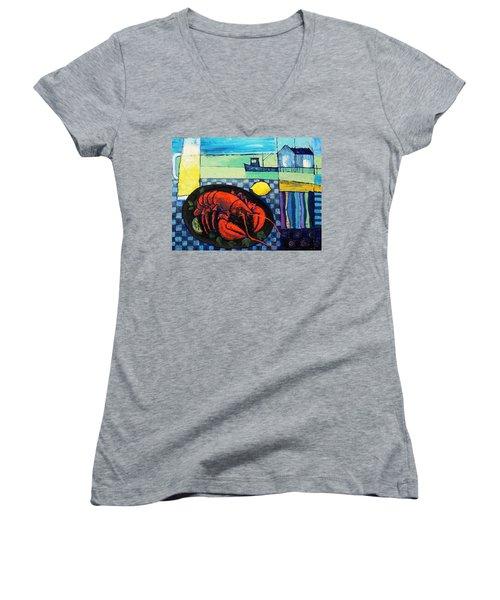 Lobster Women's V-Neck T-Shirt