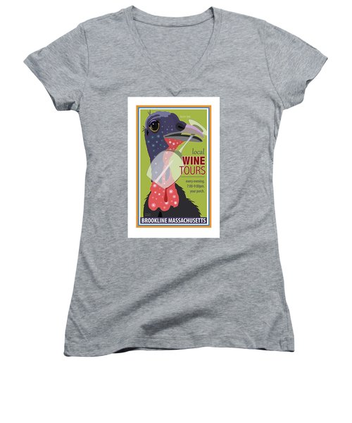 Local Wine Tours Women's V-Neck