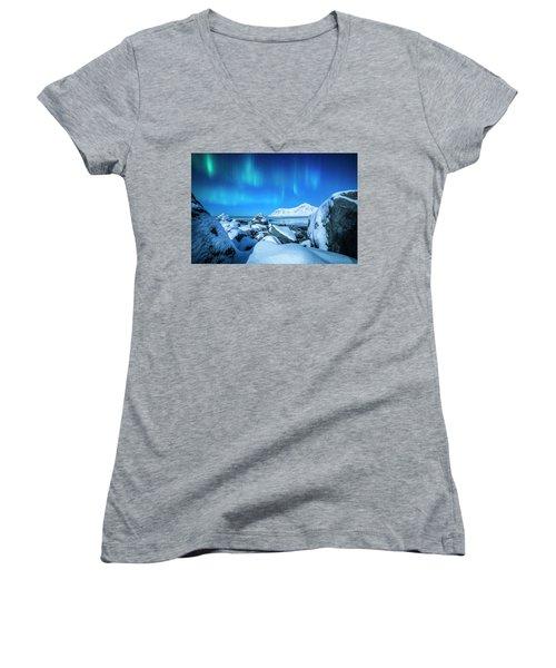 Lofoten Aurora Women's V-Neck T-Shirt