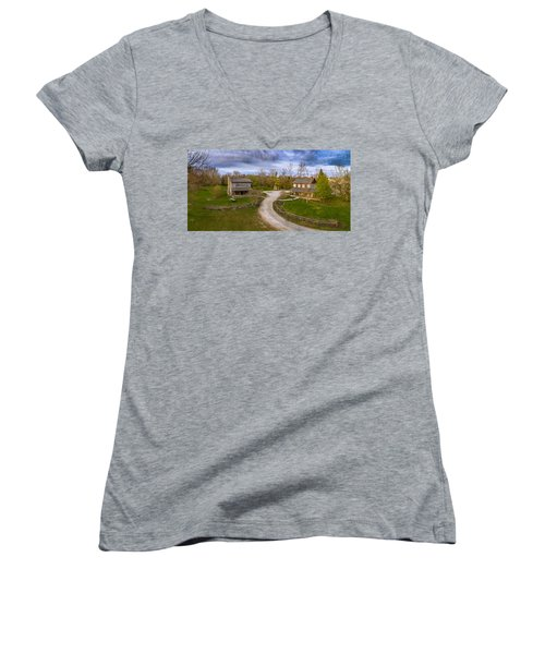 Log Cabins Women's V-Neck (Athletic Fit)