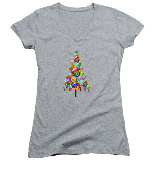 Lollipop Tree Women's V-Neck