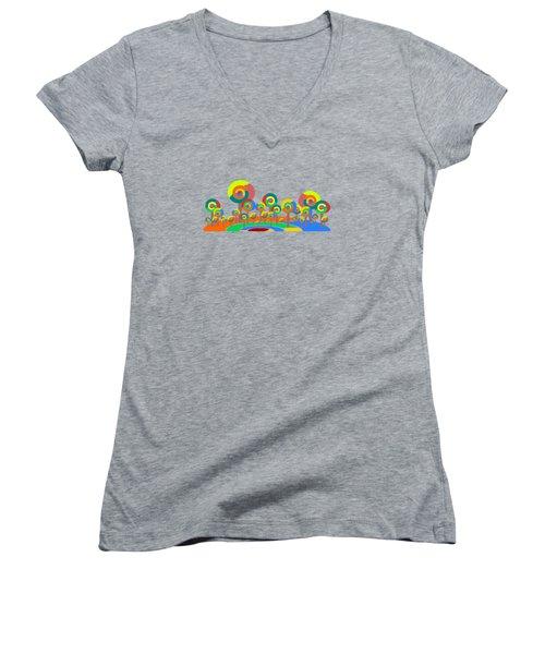Lollypop Island Women's V-Neck T-Shirt (Junior Cut) by Anastasiya Malakhova
