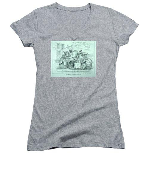 London Coffee Stall Women's V-Neck T-Shirt