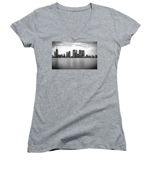 London Docklands Women's V-Neck T-Shirt (Junior Cut) by Martin Newman