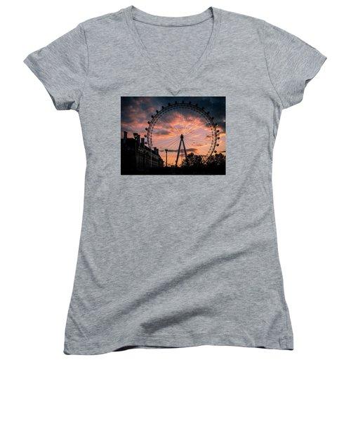 London Eye #1 Women's V-Neck