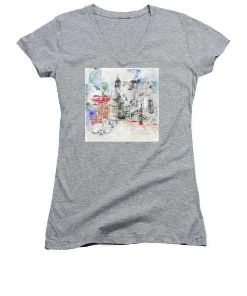London Study Women's V-Neck T-Shirt