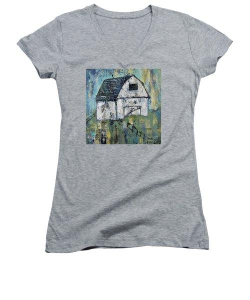 Lone Barn Women's V-Neck T-Shirt (Junior Cut) by Kirsten Reed