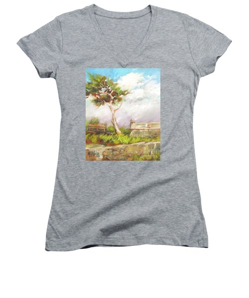 Lone Cedar Women's V-Neck T-Shirt