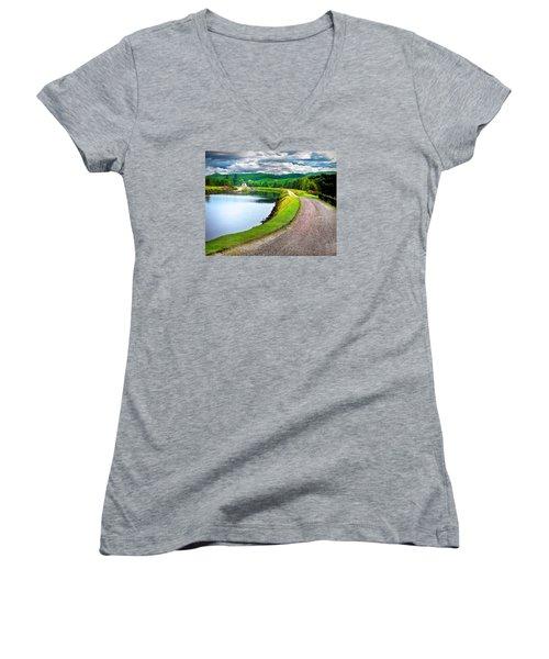 Lone Highland Farm Women's V-Neck T-Shirt