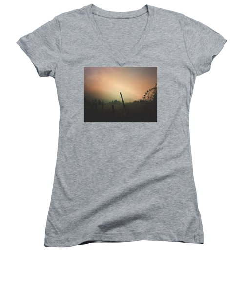 Lonely Fence Post  Women's V-Neck