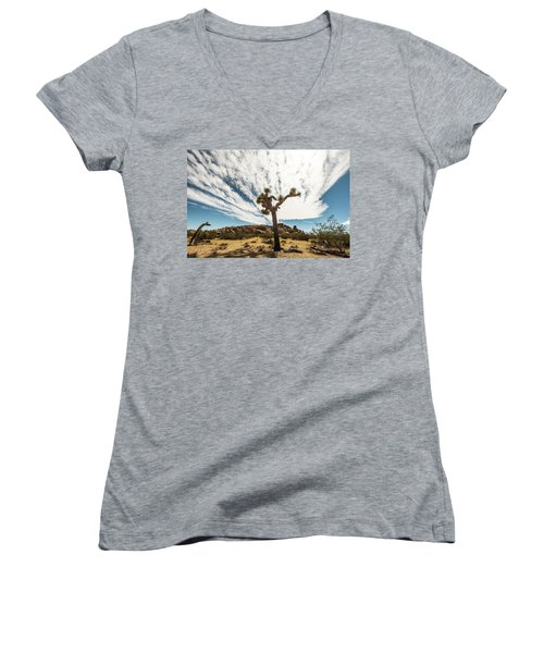 Lonely Joshua Tree Women's V-Neck (Athletic Fit)