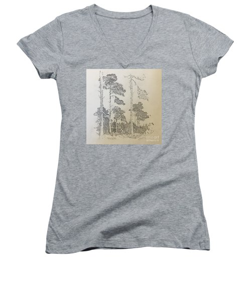 Lonely Pines Women's V-Neck (Athletic Fit)