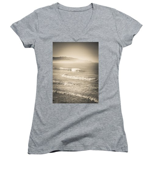 Lonely Winter Waves Women's V-Neck