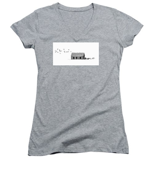 Lonesome But Peaceful Women's V-Neck T-Shirt