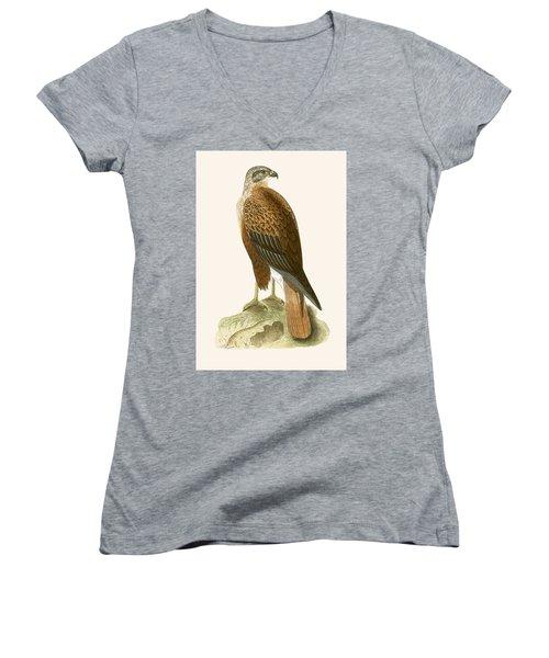 Long Legged Buzzard Women's V-Neck T-Shirt