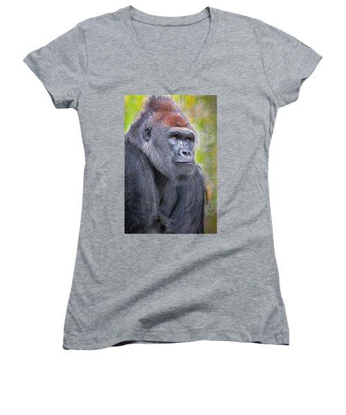 Longing Women's V-Neck T-Shirt