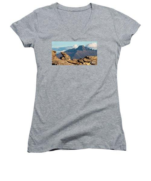 Long's Peak View Women's V-Neck T-Shirt