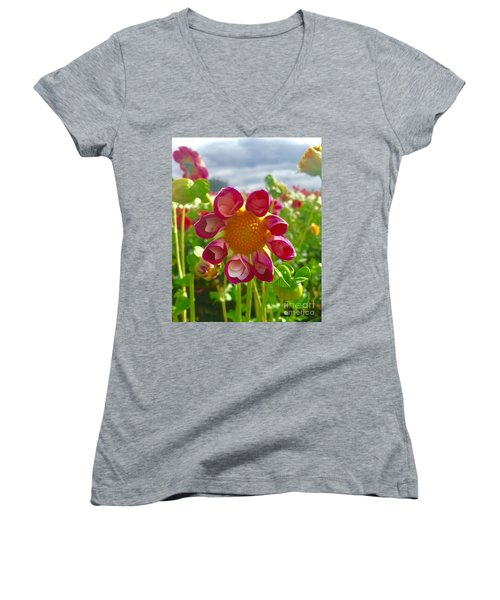 Look At Me Dahlia Women's V-Neck T-Shirt